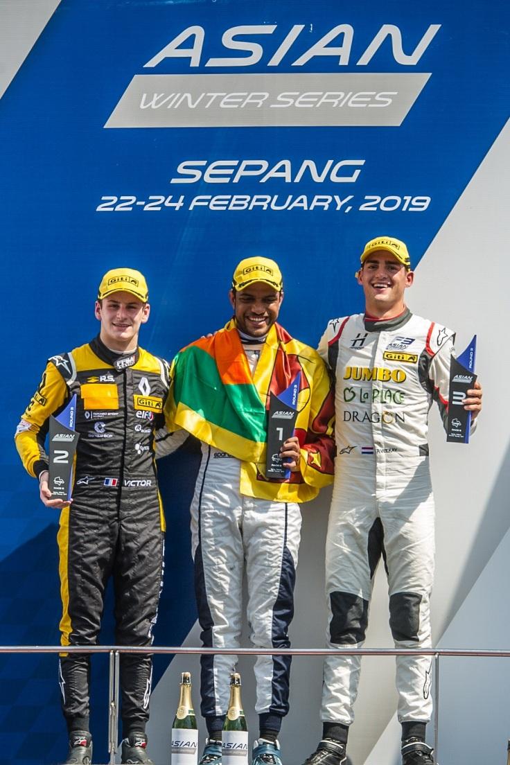 Asian F3 Winter Series Round 9 Podium