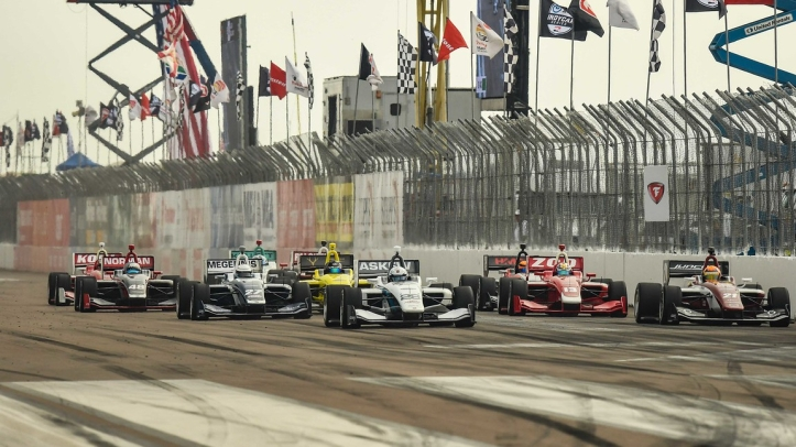 Indy Lights - start St Pete 2019